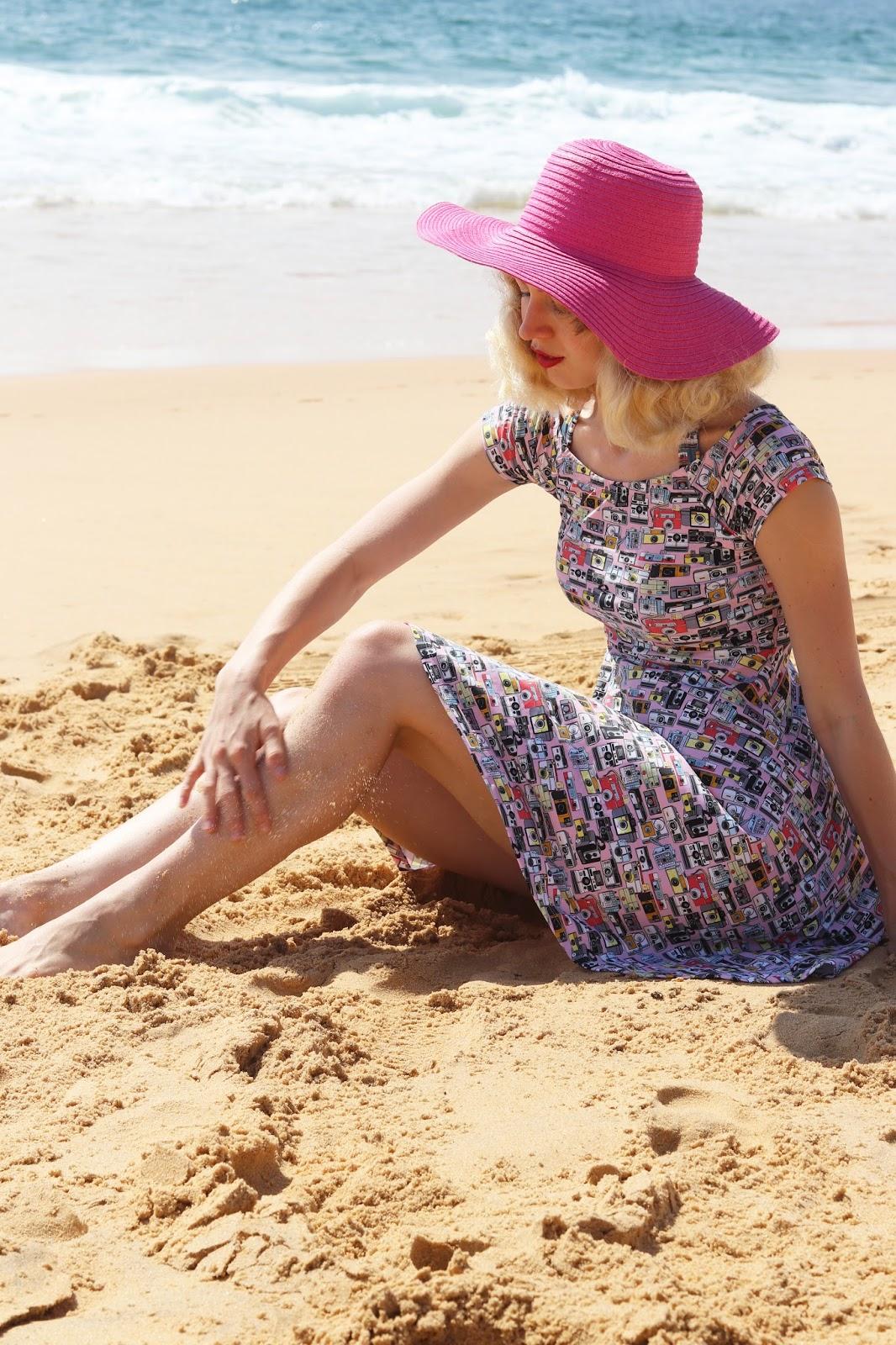 Gracefullyvintage Red Dolly Swimwear Camera Dress