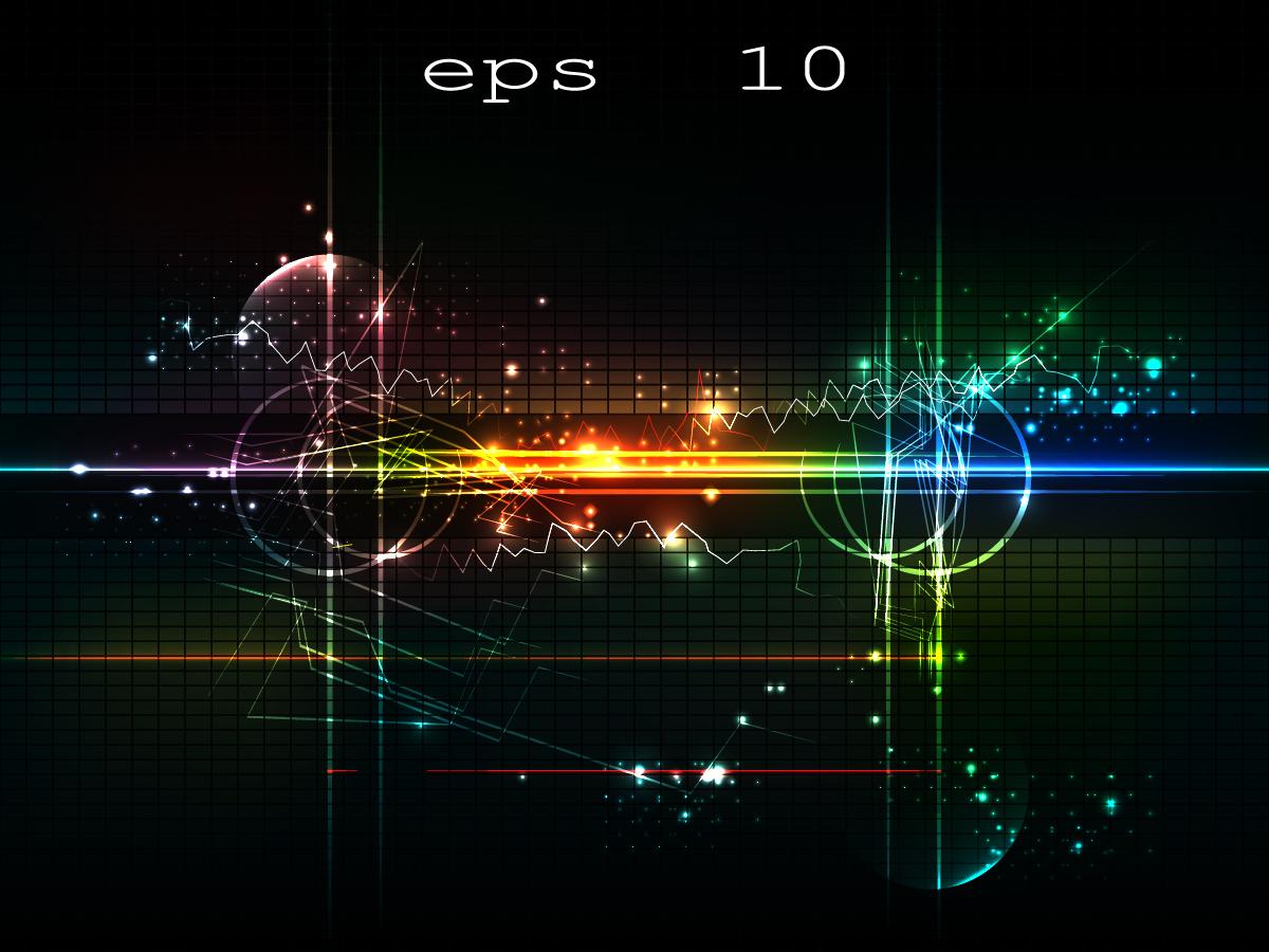 デジタルを表現した背景 Digital background vector | ai eps イラストレーター