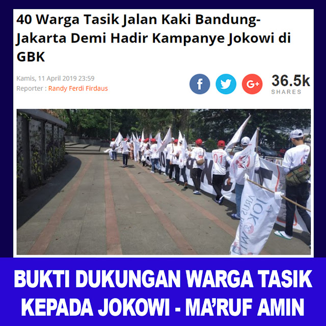 40 Warga Tasik Jalan Kaki Bandung - Jakarta Demi Hadir Kampanye Jokowi di GBK