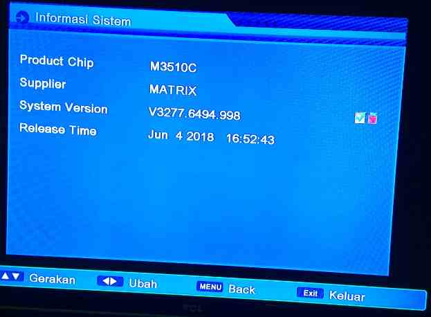 Update SW Matrix Burger S1 HD Fix Sony Juli 2019 - Kreasi Parabola