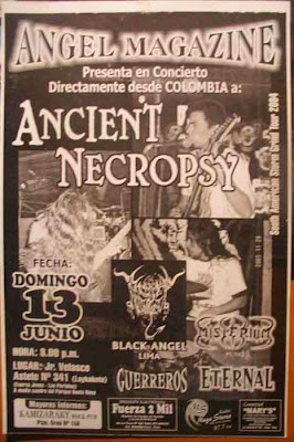 Ancient Necropsy gira latinoamericana 2004
