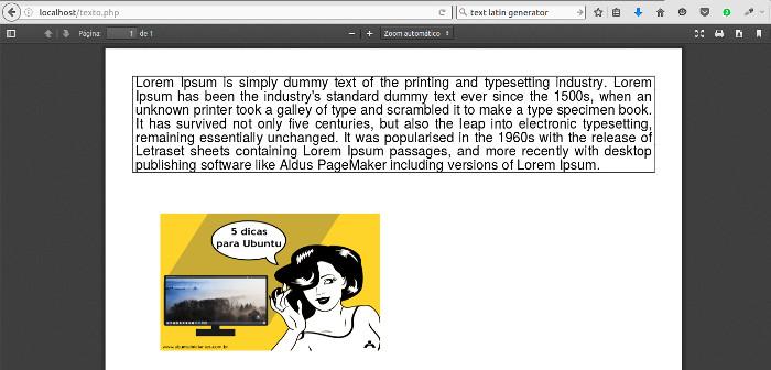pdf gerado com php e o fpdf
