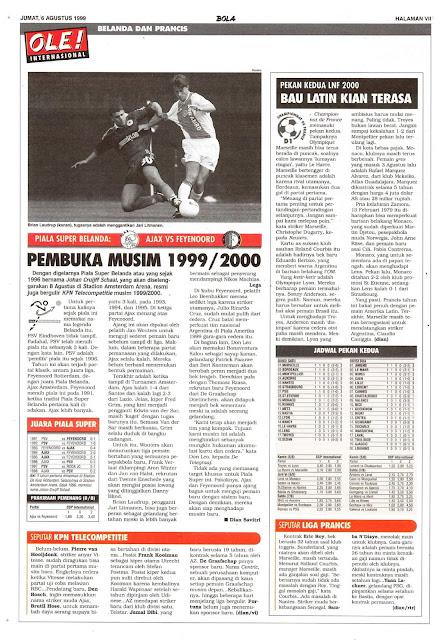 PIALA SUPER BELANDA 1999/2000 AJAX VS FEYENOORD