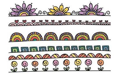 gambar doodle bunga mudah ditiru