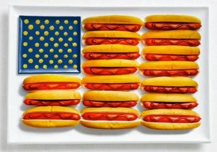 флаг США из гамбургеров