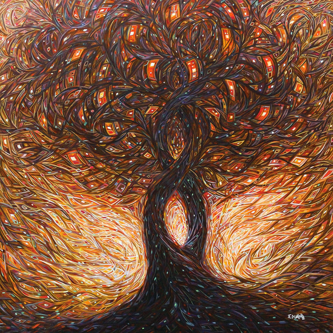 10-Tree-of-Life-Eduardo-R-Calzado-Paintings-in-Swirls-of-Colour-www-designstack-co