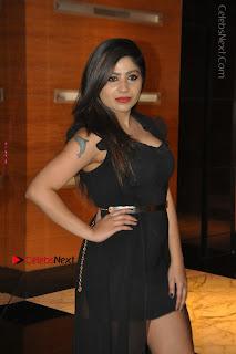 Telugu Actress Model Madhulagna Das Latest Spicy Stills in Black Short Dress  0013.JPG