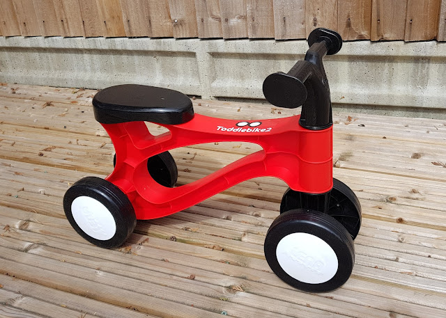 The Toddlebike2 in racing red