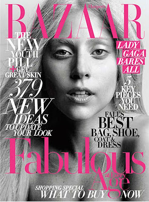 Lady Gaga goes natural on the cover of Harper's Bazaar