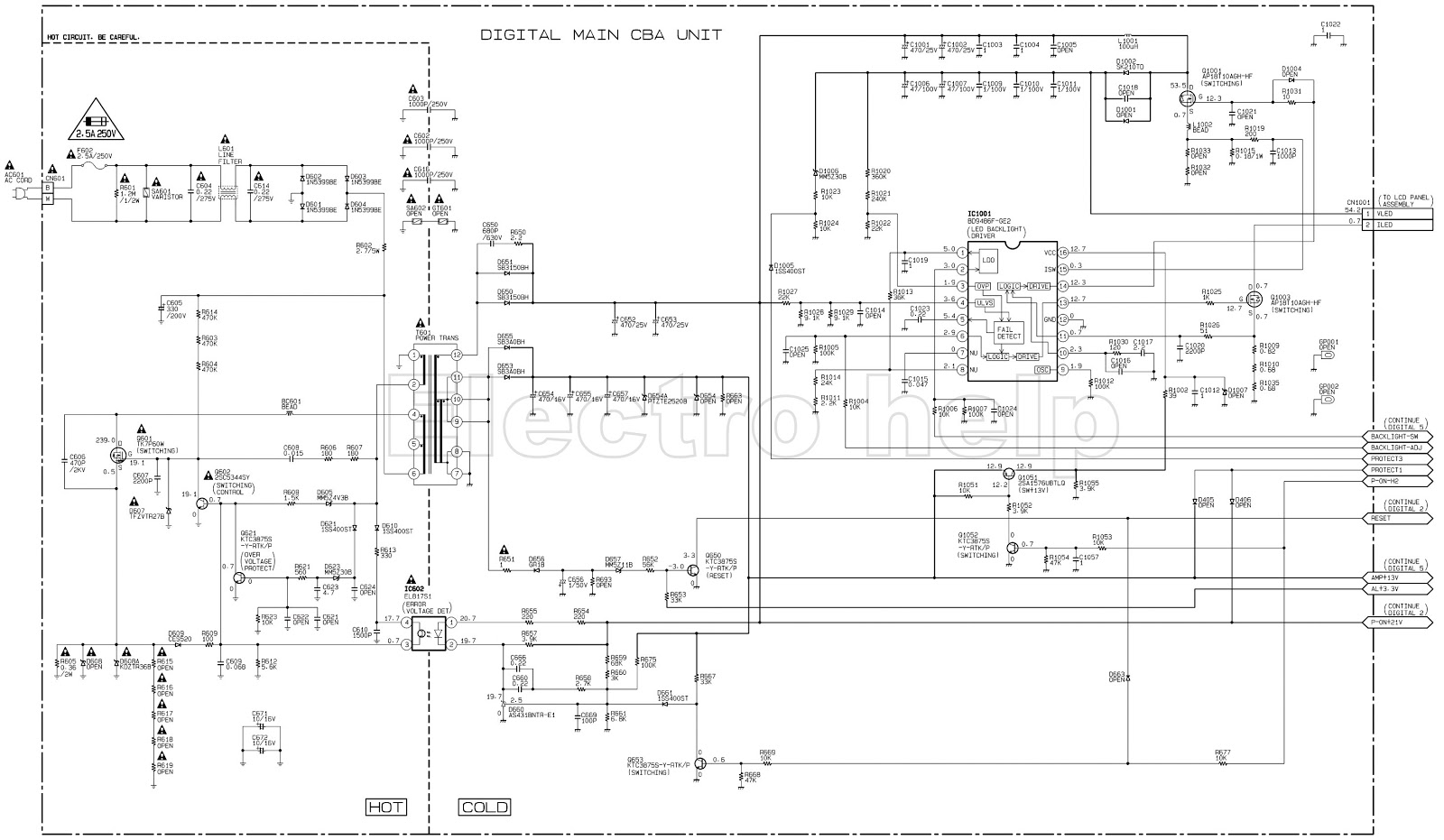 philips led lcd tv smps with led driver schematic. Black Bedroom Furniture Sets. Home Design Ideas