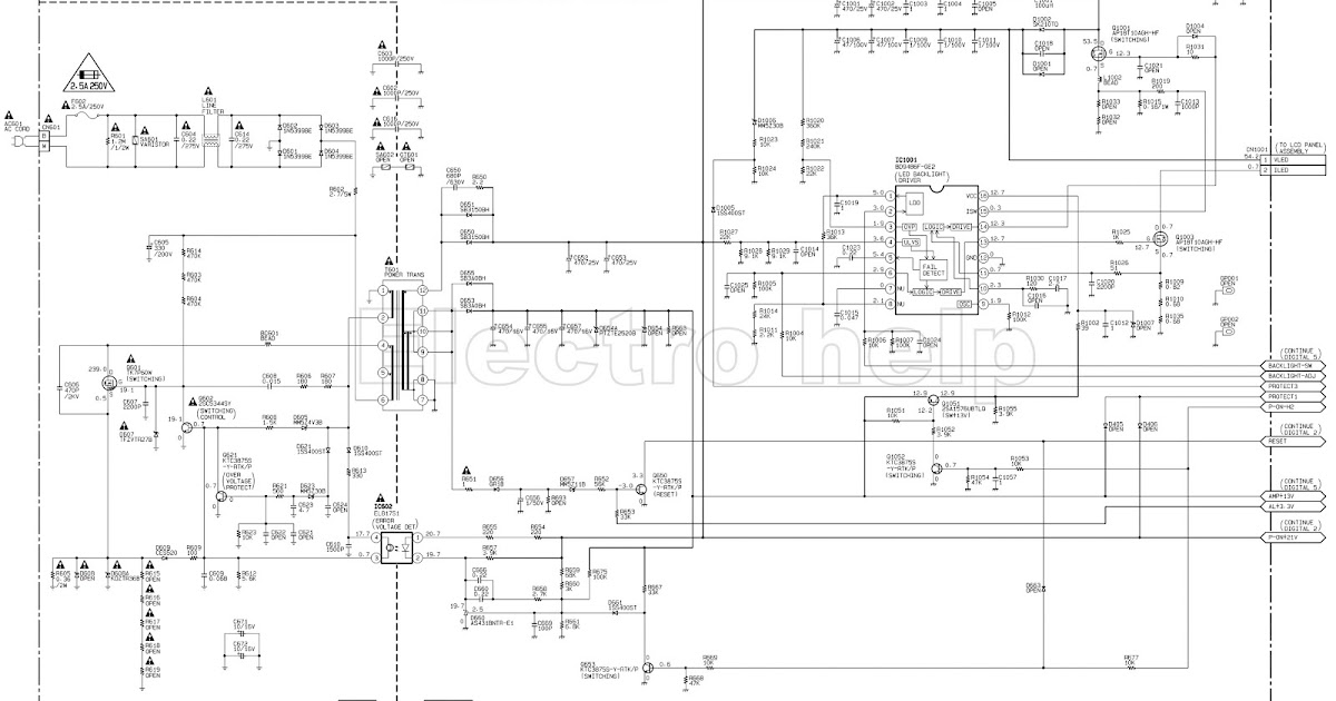 PHILIPS LED-LCD TV SMPS with LED DRIVER SCHEMATIC