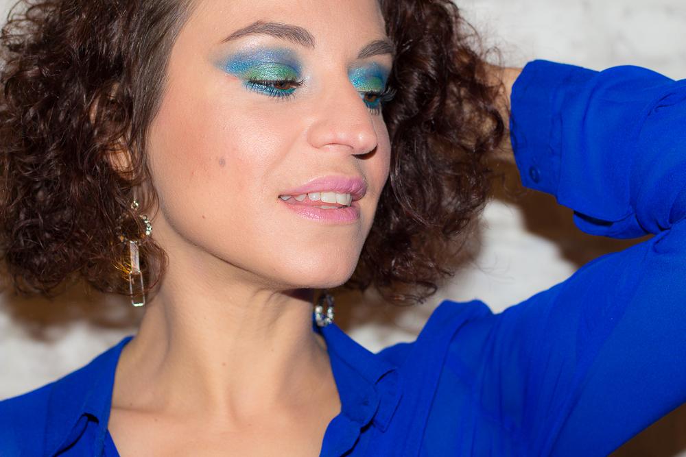 maquillage - turquoise - paillettes - fetes