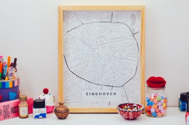 como hacer un cuadra con un mapa customizable // How to make a customizable city map poster