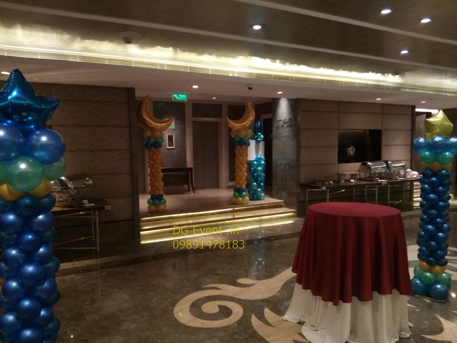 DJ Videek Event Update moon and stars birthday party theme decor in