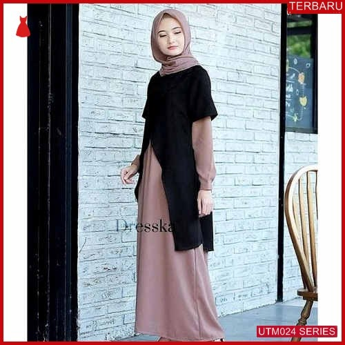 UTM024D95 Baju Dresska Muslim 2in1 Dewasa Maxi UTM024D95 018 | Terbaru BMGShop