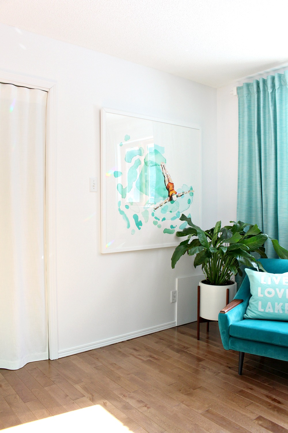 DIY White Linen Curtain