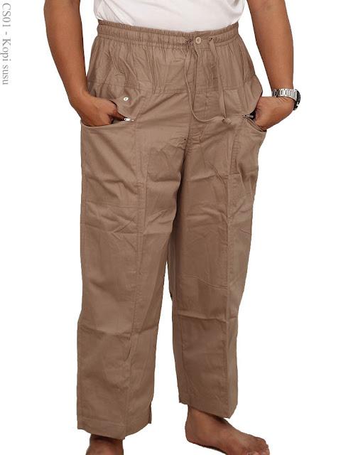 Model Celana Ikhwan diatas Mata Kaki Warna Cokelat