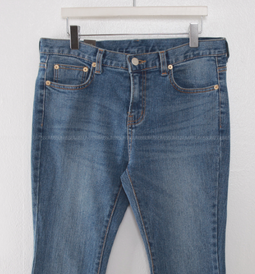 Semi-Boot Cut Whiskered Jeans