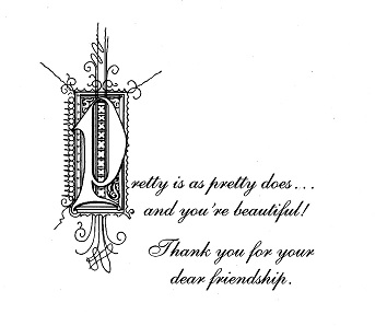 "VERSE INSIDE OF THE ""DE VANT LE MIROIR"" FRIENDSHIP CARD"