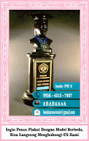 piala murah, piala wedding, plakat crystal
