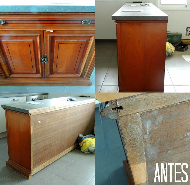 Plata Y Chocolate Muebles Reciclados Para La Cocina - Muebles-de-cocina-reciclados