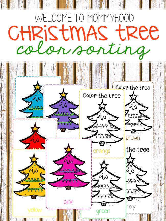 Christmas activities: Color cards for toddlers by Welcome to Mommyhood #christmasactivities, #toddleractivities, #montessoriactivities, #toddlers, #christmas