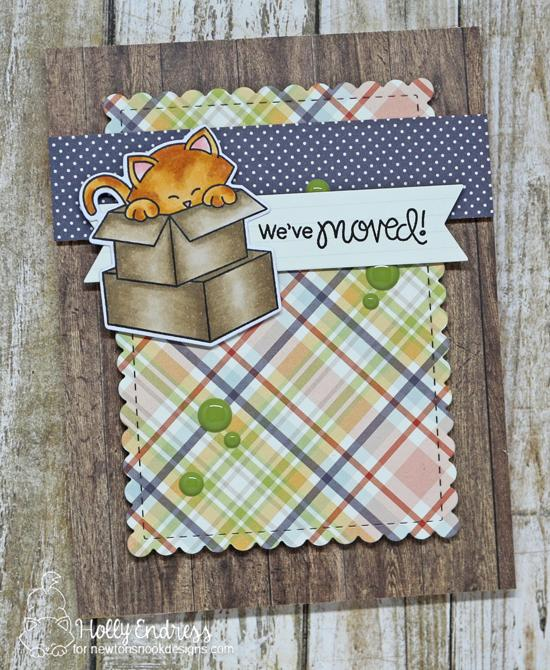 Cat and Boxes Moving Card by Holly Endress | Newton Loves Boxes Stamp Set by Newton's Nook Designs #newtonsnook #handmade