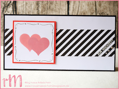 Stampin' Up! rosa Mädchen Kulmbach: Stamp Impressions Blog Hop: Let's get married Hochzeitskarten mit Herzblatt- und Herzkonfettistanze, Doodlerand und Designerpapier