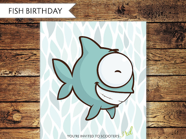 Children's Fish Birthday Invitation