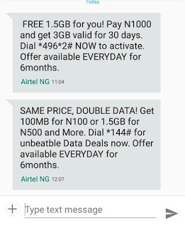 air - Airtel 3GB for 1000naira only
