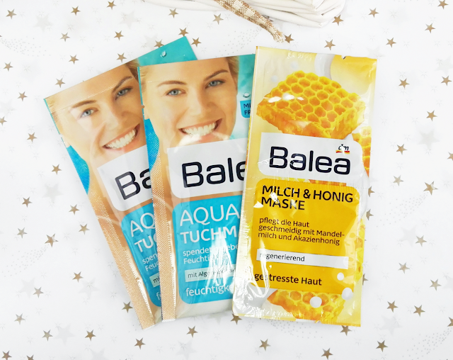 Balea Aqua Tuchmaske, Milch & Honig Maske