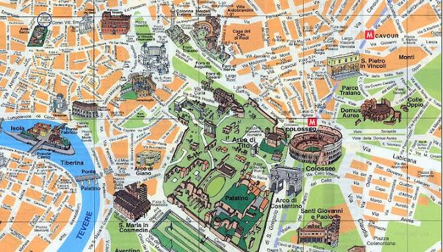 Onde ficar em Roma - mapa turístico de Roma