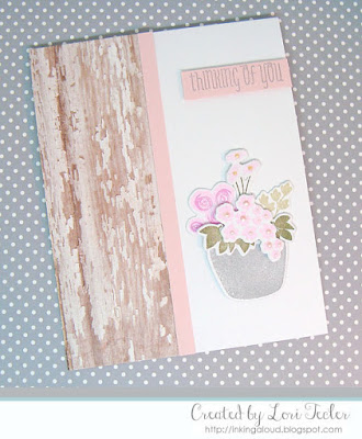 Rustic Floral Fusion card-designed by Lori Tecler/Inking Aloud-stamps and dies from WPlus9