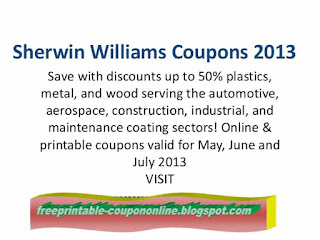 Free Printable Sherwin Williams Coupons