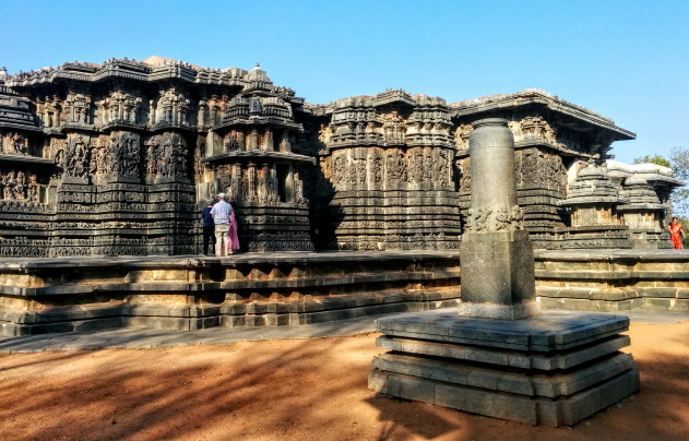 Halebid Hoysaleswara temple - amazing work of Hoysala Dynasty, Karnataka