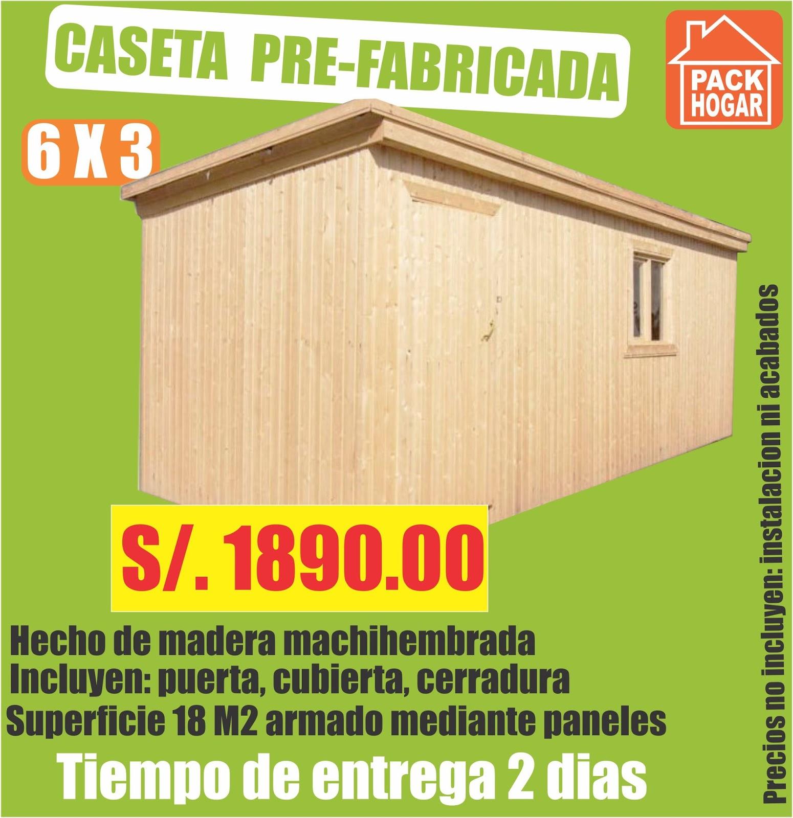 Catalogo de precios casetas m dulos prefabricadas for Casas prefabricadas de madera precios