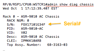 Ken Felix Security Blog: Finding the ASR 9010 chassis serial