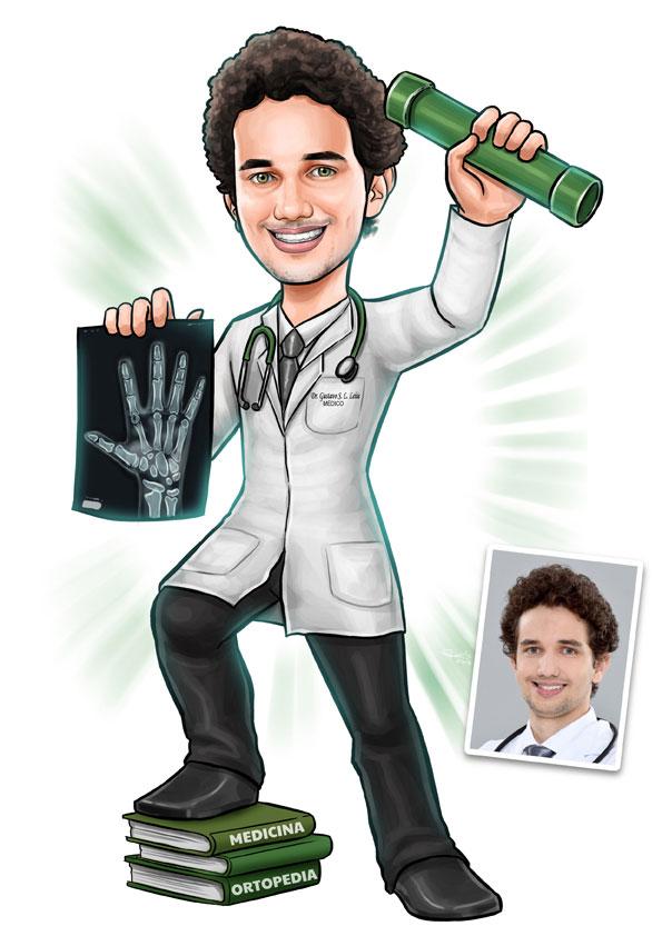 caricatura formando medicina