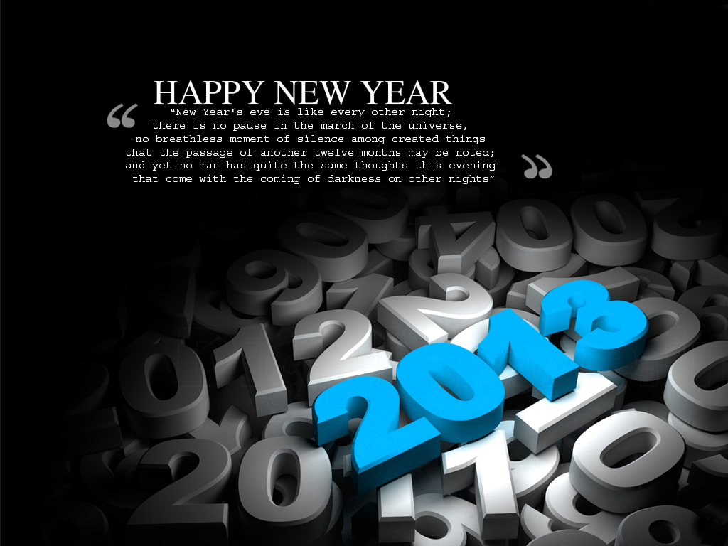Happy New Year 2013 Sayings For Greeting Cards 02. 1024 x 768.Greeting For New Year In Hindi