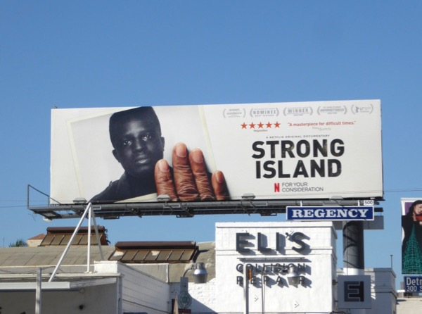 Strong Island documentary FYC billboard