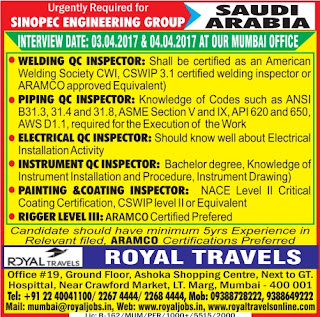 Sinopec Engineering Group Saudi Arabia jobs