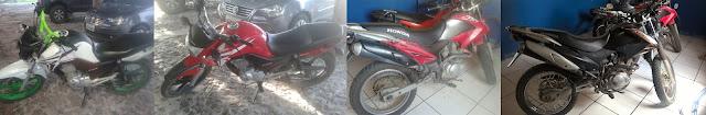 Polícia Militar recupera 04 motos roubadas em Urbano Santos.