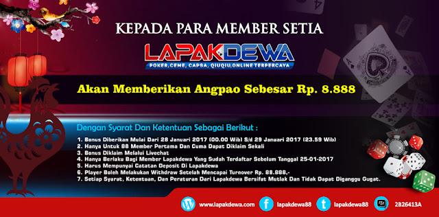 Lapakdewa.com situs poker online Terbaik & Terpercaya di Indonesia Bagi Bagi ANG PAO LAPAK-DEWA-BANNER-IMLEK