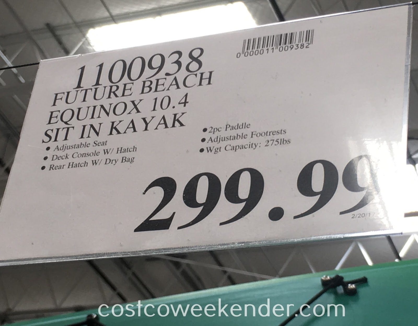 Deal for the Equinox 10.4 Sit-in Kayak at Costco