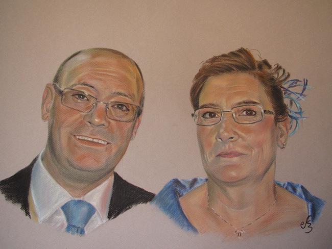 Retrato de pareja con gafas