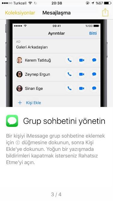 iMessage Grup sohbetlerini kolay bir şekilde yönetme özelliği