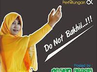 Contoh Design Poster Pesan Moral untuk Bersyukur Sekolah SMK Yasmida
