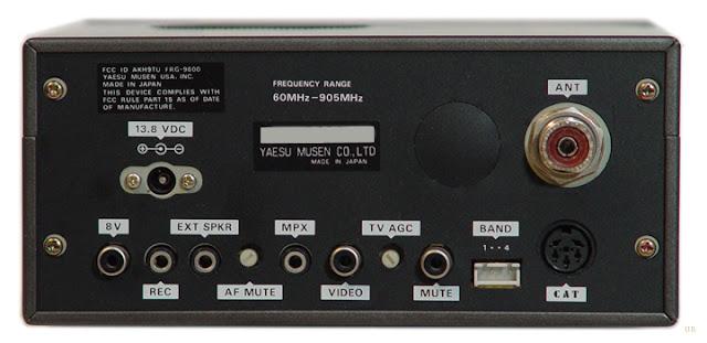 Yaesu FRG-9600 Receiver Rear Panel
