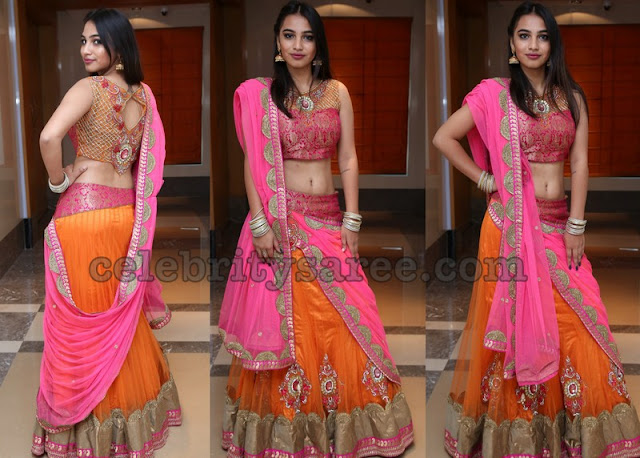 Aashi Tyagi in Orange Lehenga