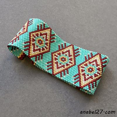 купить браслет из бисера этнический с узором украина россия